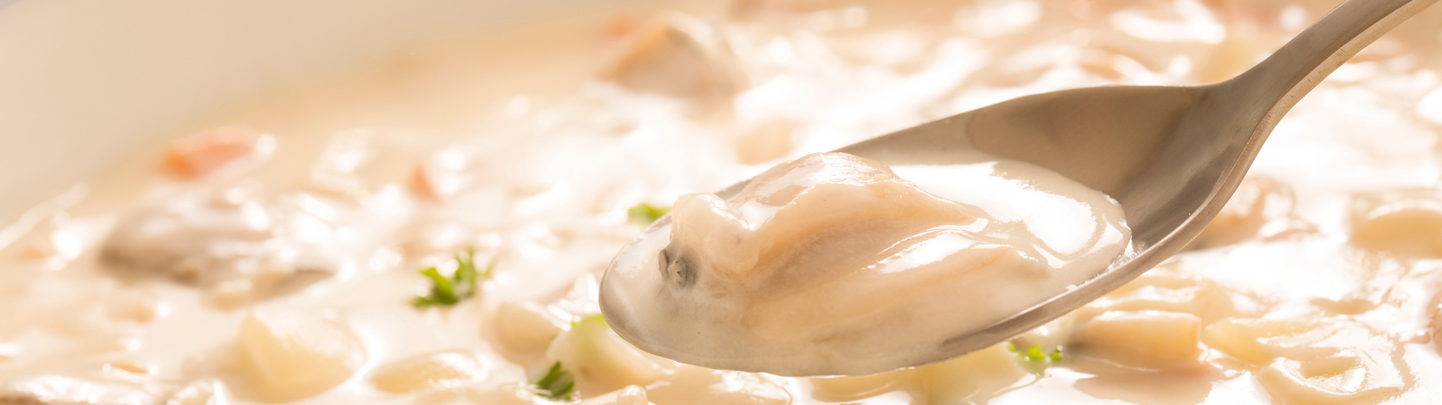 New England Clam Chowder Hot Soup