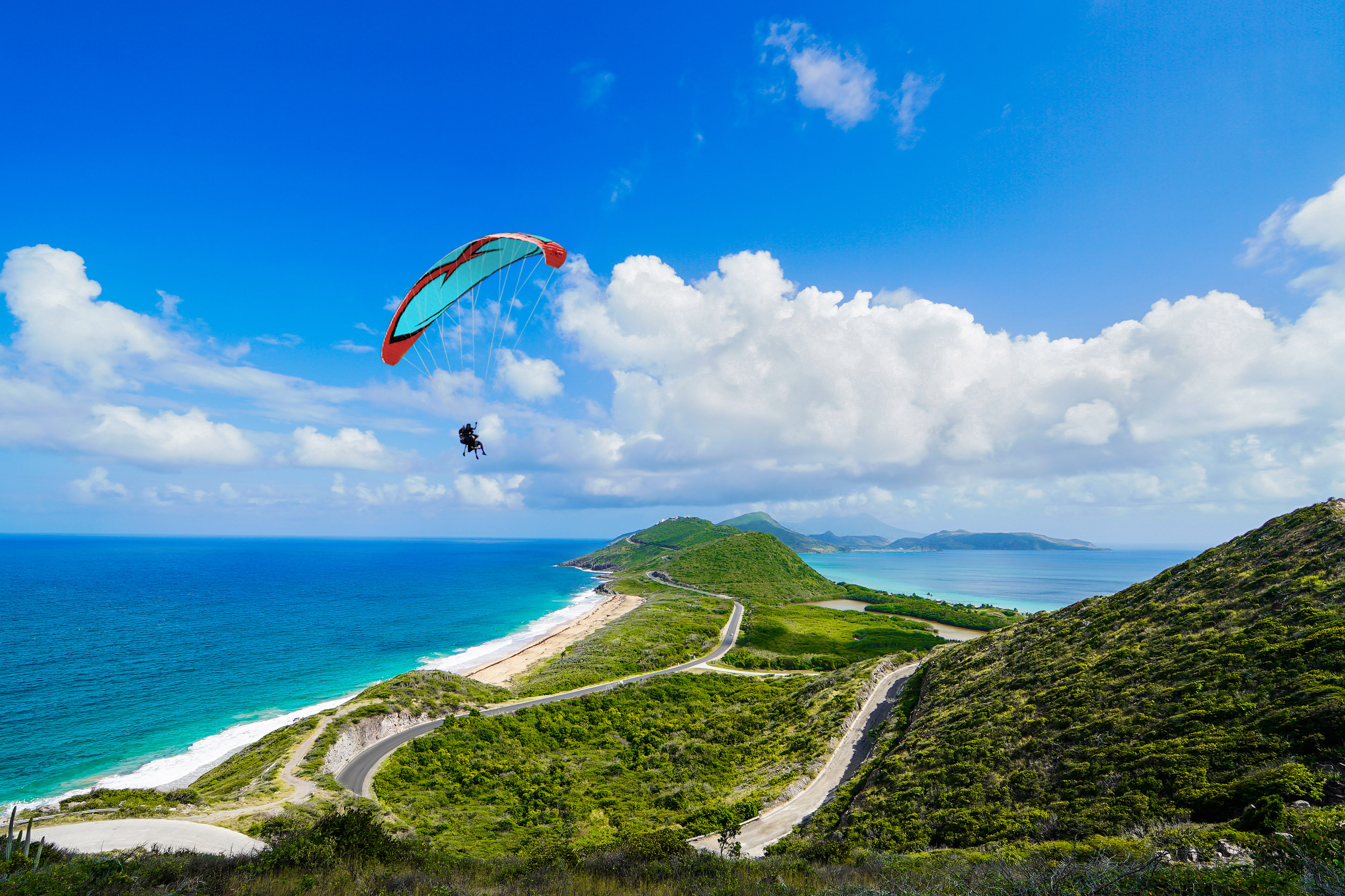 Basseterre, St. Kitts Timothy Hills Paragliding