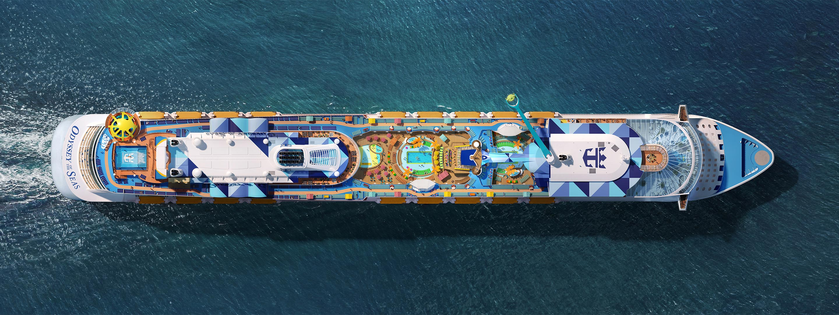 Aerial View of Spectrum of the Seas