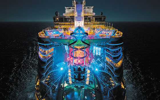 Harmony of the Seas in partenza da Fort Lauderdale, in Florida