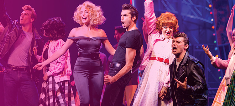 Grease cast performing during a Broadway cruise show.