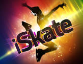 The colorful rainbow logo for the ice skating show iSkate.