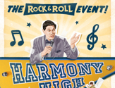 Poster announcing the Harmony High Rock and Roll Cruise Event by Royal Caribbean