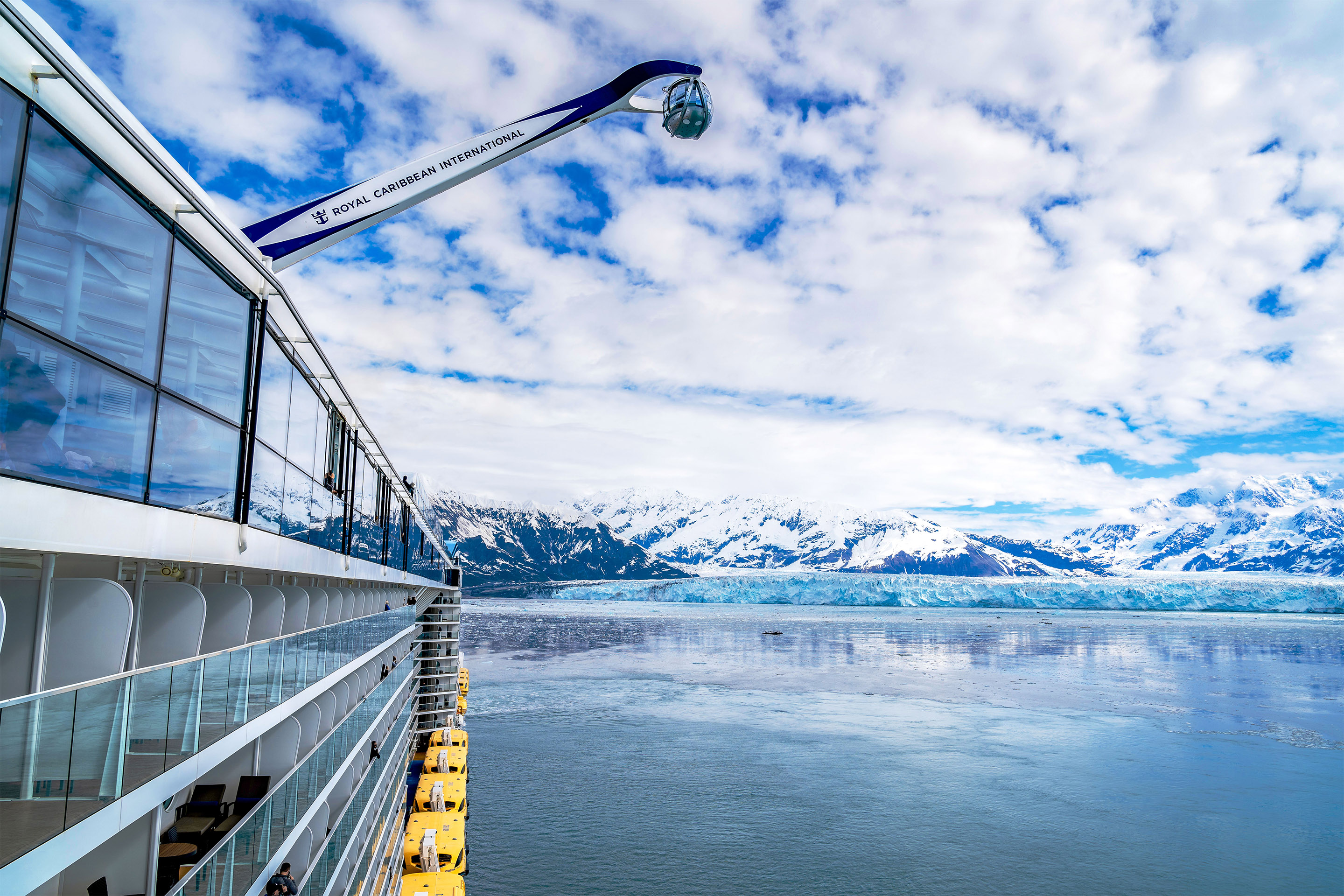Glaciar Twangster Dawes desde el Ovation of the Seas
