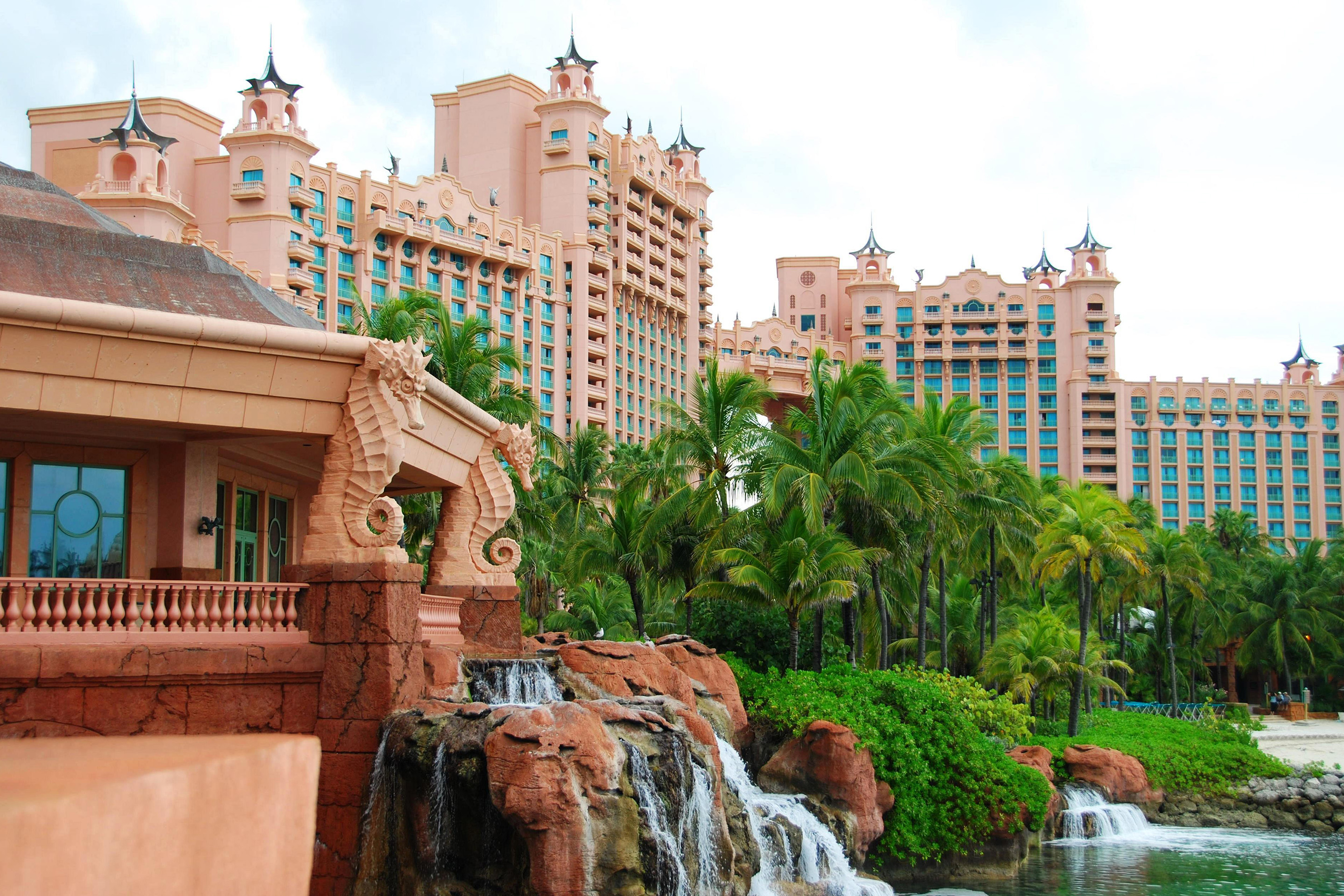 Close up of Atlantis Paradise Island, Nassau, Bahamas