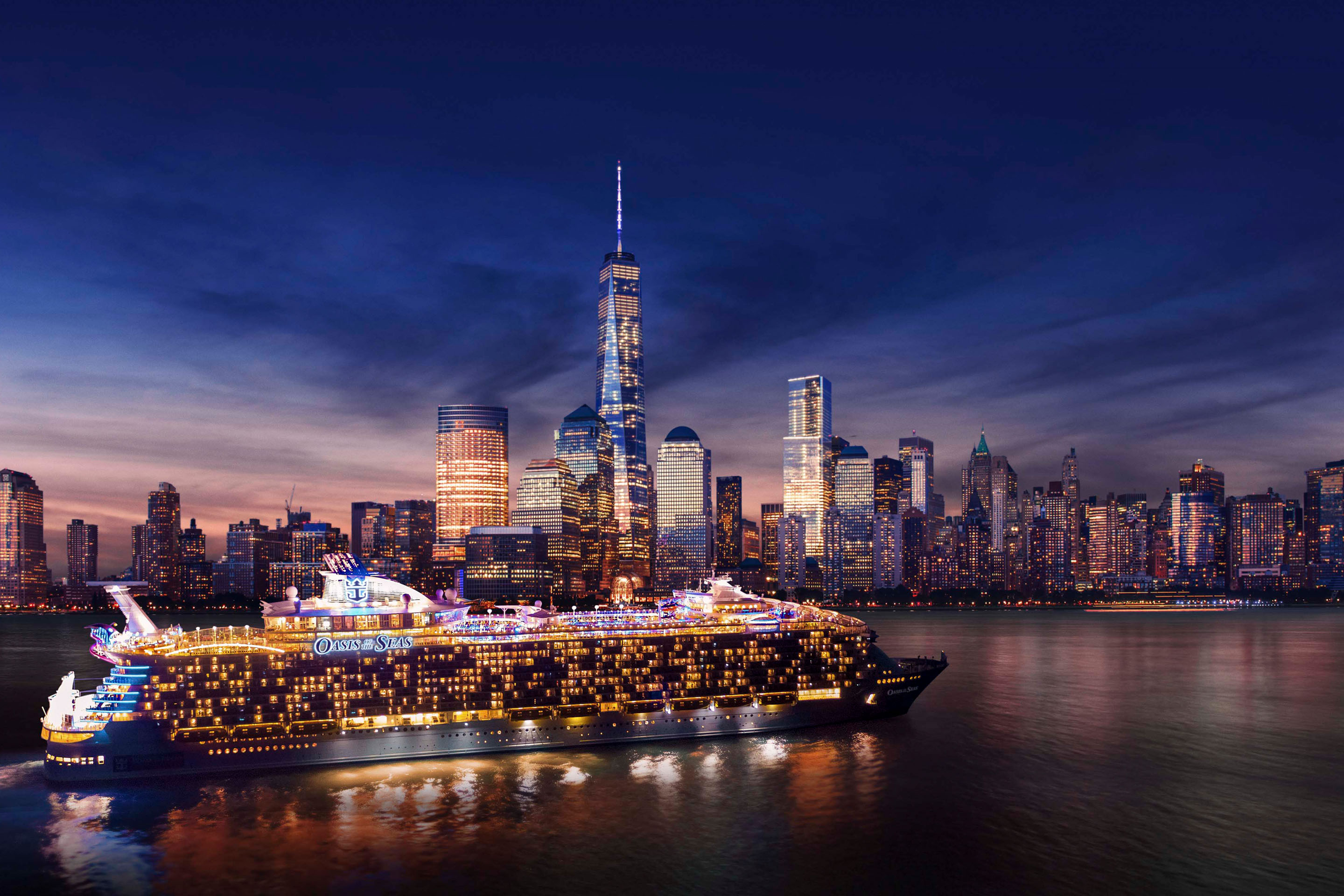 Oasis of the Seas navegando en Nueva York