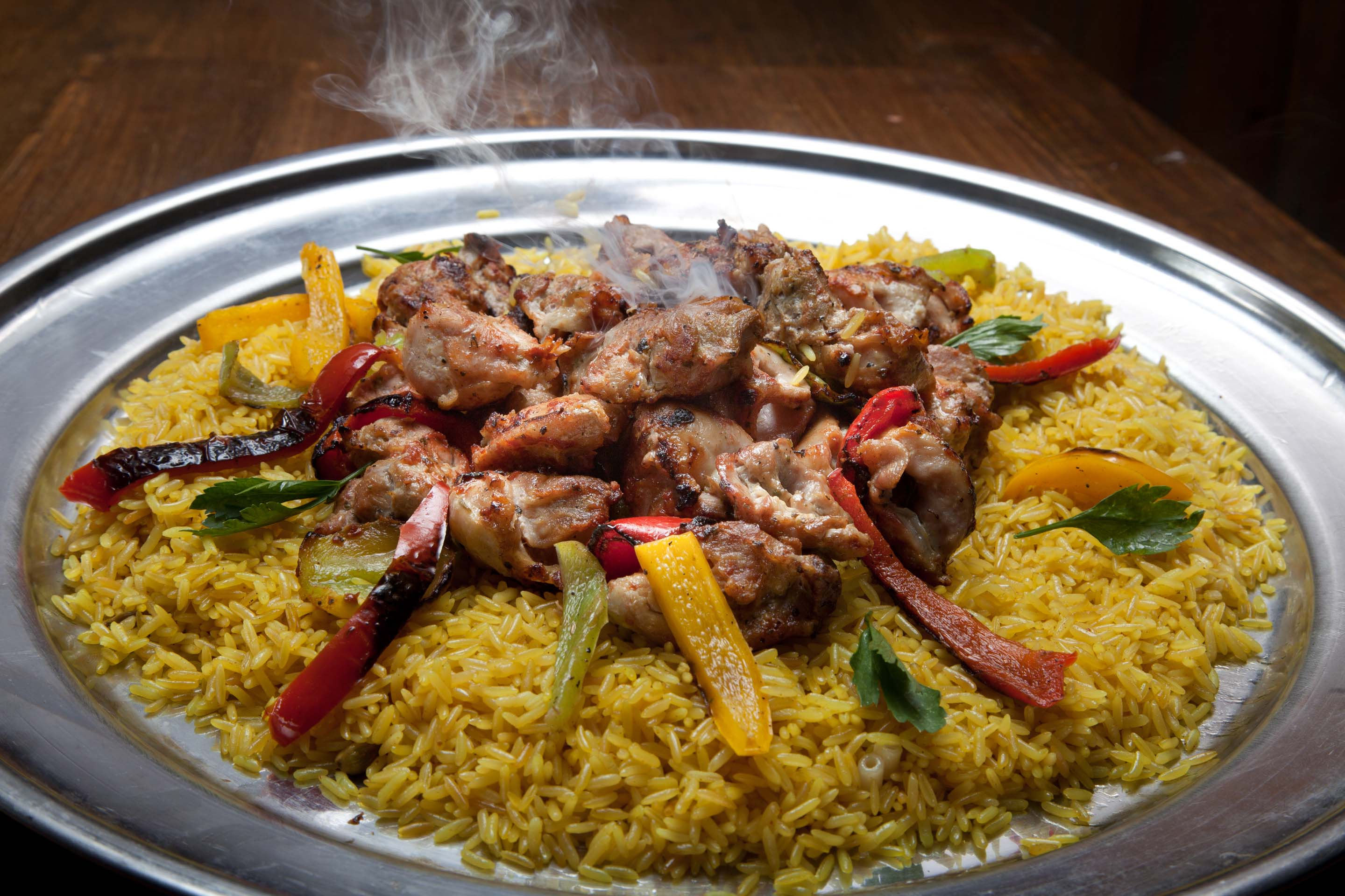 Chicken Shish Kabob, Traditional Arabic Food