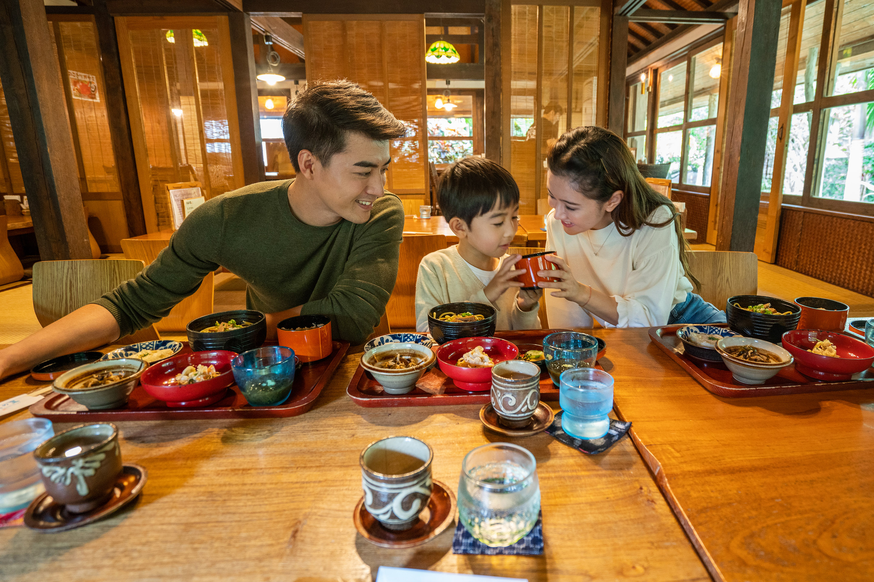 Japan, Ishigaki Family Eating
