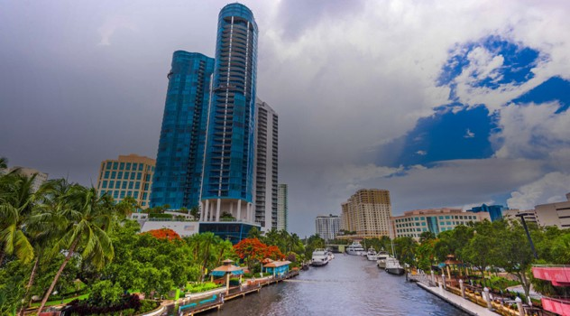 Fort Lauderdale, Florida Riverwalk Highrises