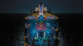 Symphony of the Seas Lights at Night