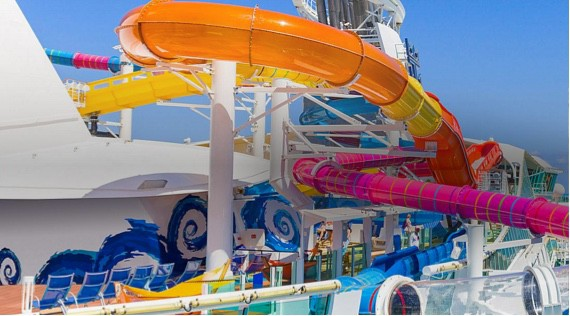 Amazing Waterslides on Cruise Ship